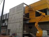 Construcción de fachada de chapa