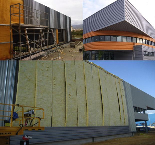 Algunas de nuestras obras de fachadas sandwich in situ