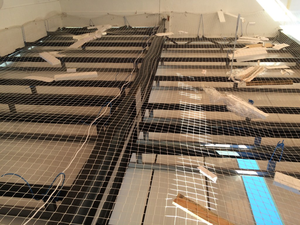 Colocación de las cubiertas en Les Embiez