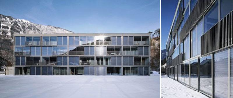 fachadas de vidrio