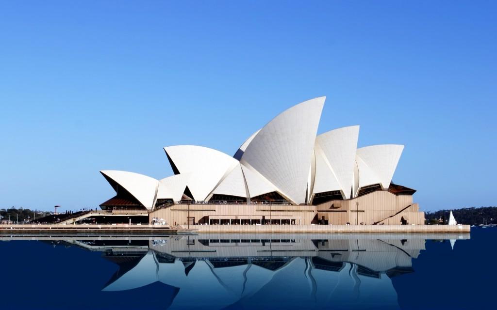 Construcción de la opera en australia