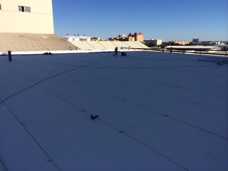 Cubierta deck en el techo de persan