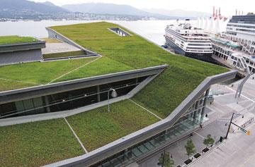 Edificio con cubierta ajardinada Alemania