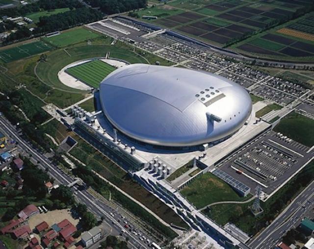 Cubierta del estadio de fútbol Sapporo Dome
