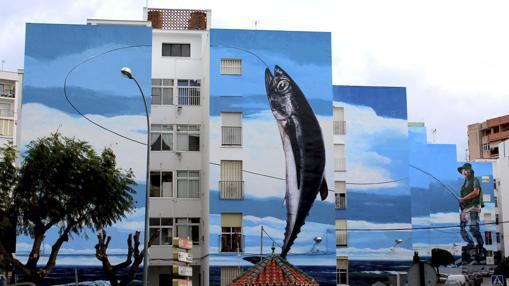 Mural en fachada, Estepona