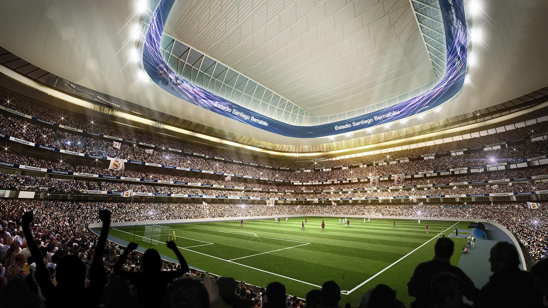 cubiertas estadios de fútbol