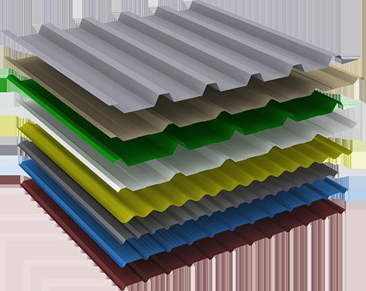 cubiertas de chapa perfilada