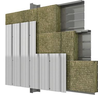 fachada de chapa perfilada