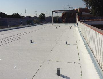 terminado de una cubierta tipo deck instalada