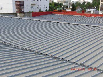 Rehabilitación de cubiertas in situ en Edificio de Telefónica de Jerez
