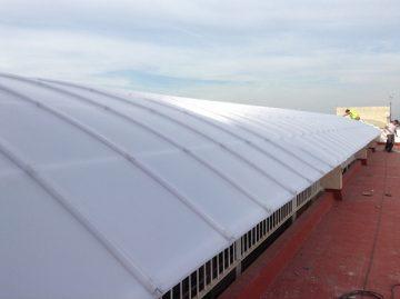 Rehabilitación de lucernario en Edificio La Quinta