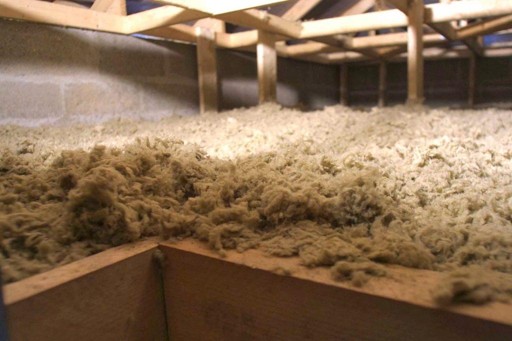 Tipo de lana de roca: a granel