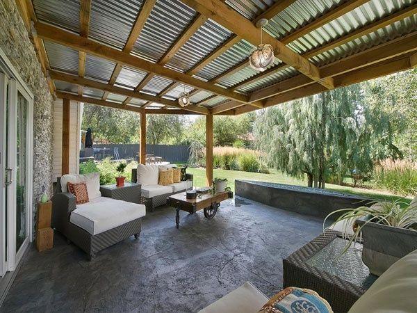 techo de zinc lámina vista combinado con madera