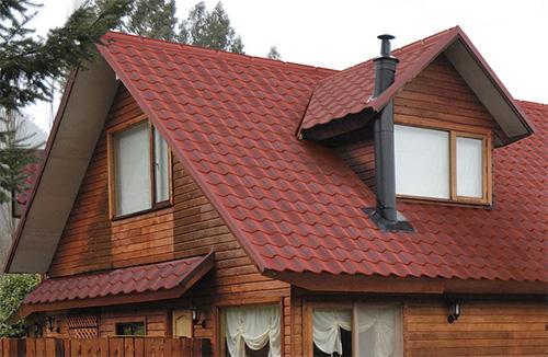 techo zinc con volados